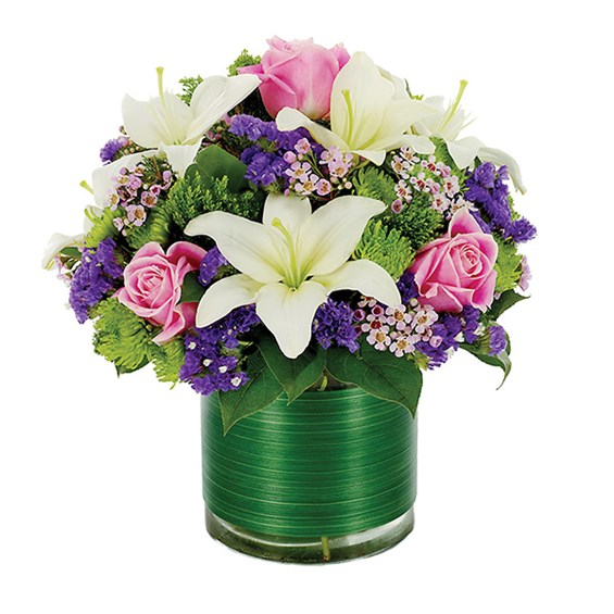 Loving lilies & roses flower arrangements (BF176-11KM)
